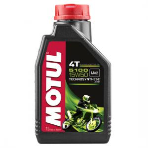 Моторное масло Motul 5100 4T SAE 15W50, Объем 1 л, ОЕМ-код 104080