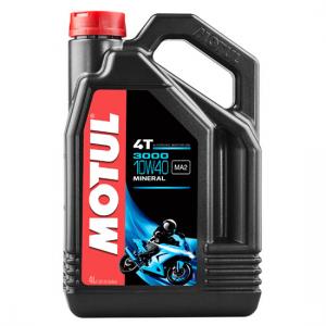 Моторное масло Motul 3000 4T SAE 10W40, Объем 4 л, ОЕМ-код 104046