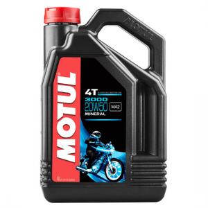 Моторное масло Motul 3000 4T SAE 20W50, Объем 4 л, ОЕМ-код 104050