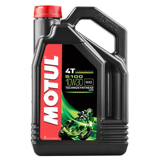 Моторное масло Motul 5100 4T SAE 10W30, Объем 4 л, ОЕМ-код 104063