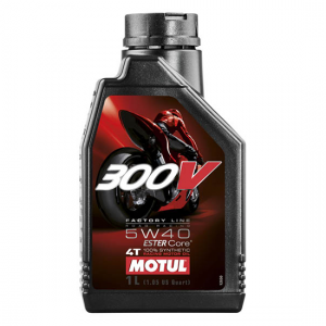 Моторное масло Motul 300V 4T FL ROAD RACING SAE 5W40, Объем 1 л, ОЕМ-код 104112