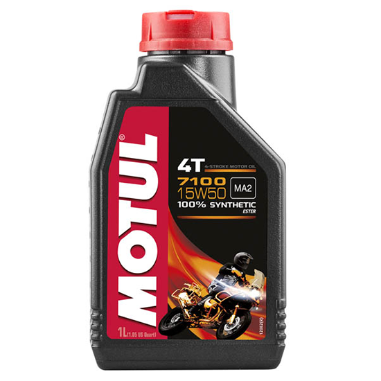 Моторное масло Motul 7100 4T SAE 15W50, Объем 1 л, ОЕМ-код 104298