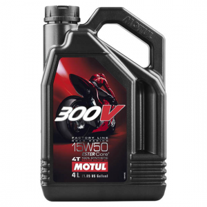Моторное масло Motul 300V 4T FL ROAD RACING SAE 15W50, Объем 4 л, ОЕМ-код 104129