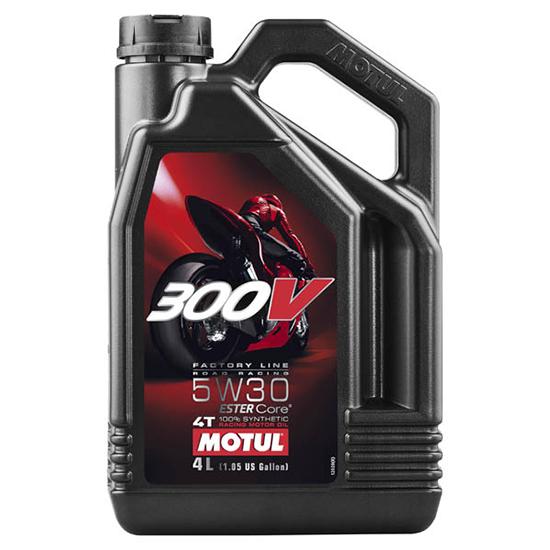 Моторное масло Motul 300V 4T FL ROAD RACING SAE 5W30, Объем 4 л, ОЕМ-код 104111