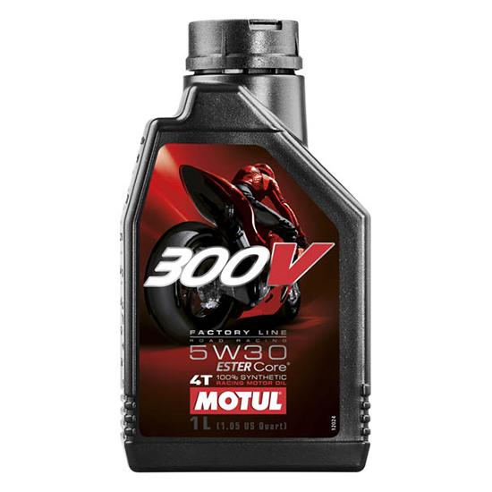 Моторное масло Motul 300V 4T FL ROAD RACING SAE 5W30, Объем 1 л, ОЕМ-код 104108