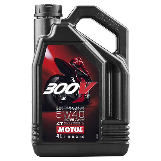 Моторное масло Motul 300V 4T FL ROAD RACING SAE 5W40, Объем 4 л, ОЕМ-код 104115