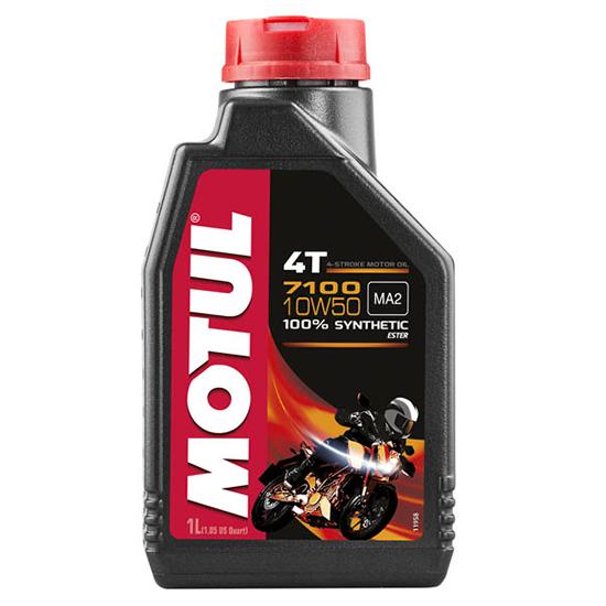 Моторное масло Motul 7100 4T SAE 10W50, Объем 1 л, ОЕМ-код 104097