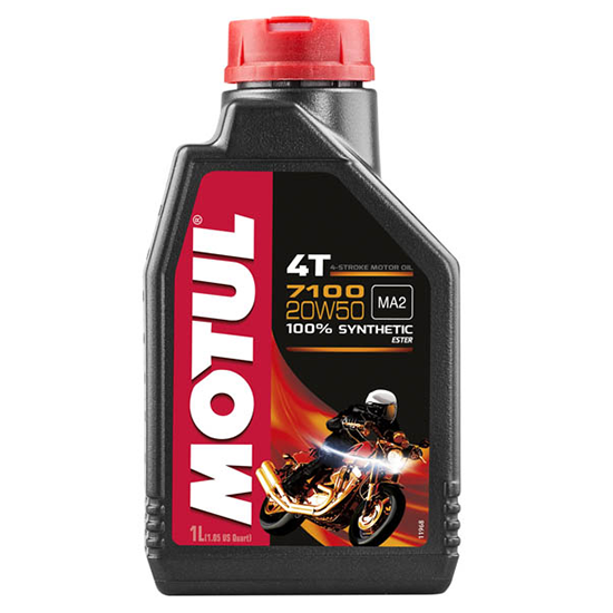Моторное масло Motul 7100 4T SAE 20W50, Объем 1 л, ОЕМ-код 104103