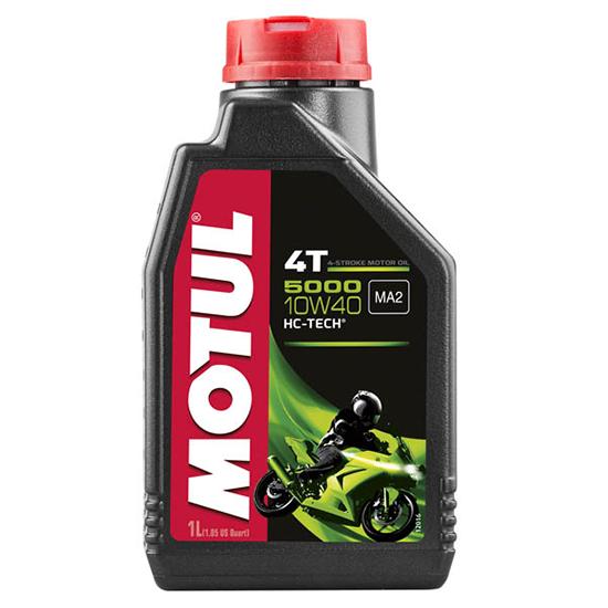 Моторное масло Motul 5000 4T SAE 10W40, Объем 1 л, ОЕМ-код 104054