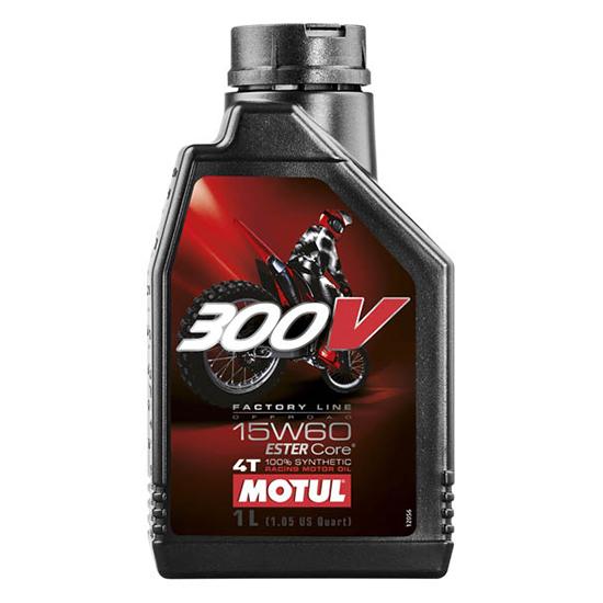 Моторное масло Motul 300V 4T OFF ROAD SAE 15W60, Объем 1 л, ОЕМ-код 104137