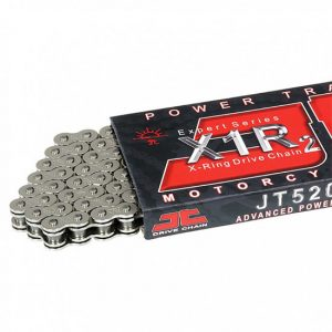Приводная цепь для мотоцикла JT 520X1R2 106 звеньев (серебро)