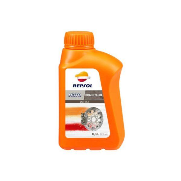 Тормозная жидкость Repsol DOT 5.1 BRAKE FLUID, Объем 500 мл, ОЕМ-код 6330/R