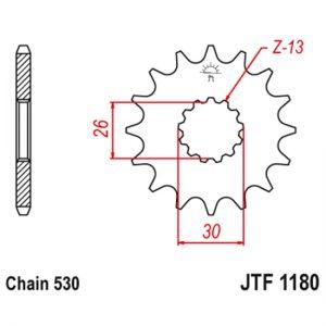 Передняя звезда JTF 1180, 17 зубьев с резиновым демпфером