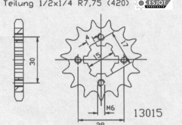 Передняя звезда Esjot 50-13015-13