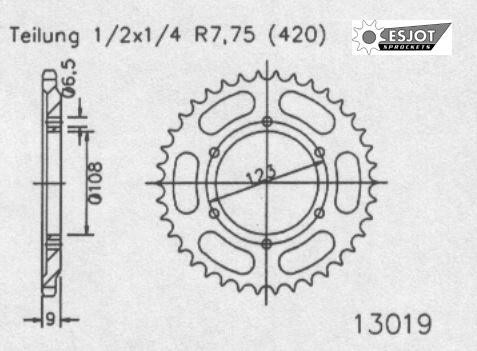 Задняя звезда Esjot 50-13019-52