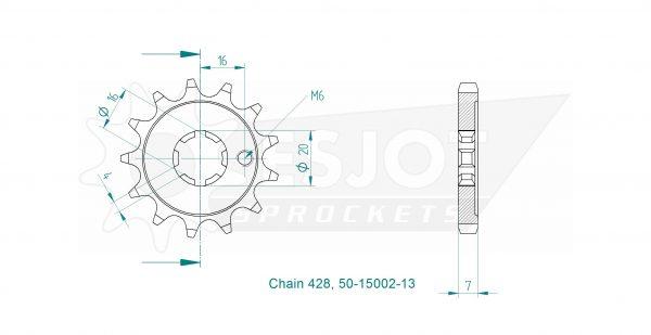 Передняя звезда Esjot 50-15002-13 (аналог JTF259.13)