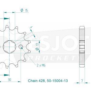 Передняя звезда Esjot 50-15004-13 (аналог JTF274.13)