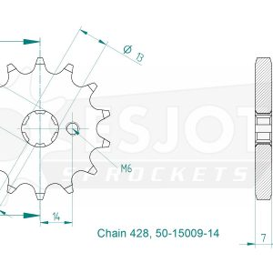 Передняя звезда Esjot 50-15009-14 (аналог JTF428.14)