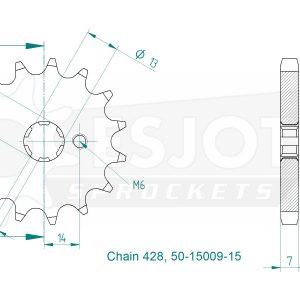 Передняя звезда Esjot 50-15009-15 (аналог JTF428.15)