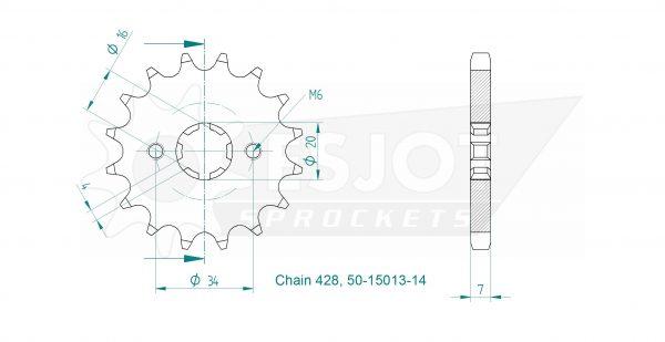 Передняя звезда Esjot 50-15013-16 (аналог JTF1263.16)