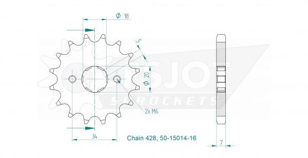 Передняя звезда Esjot 50-15014-16 (аналог JTF264.16)
