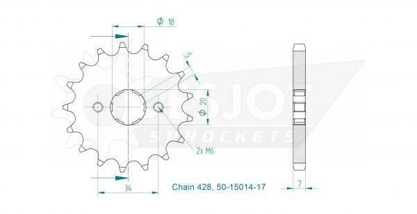 Передняя звезда Esjot 50-15014-17 (аналог JTF264.17)