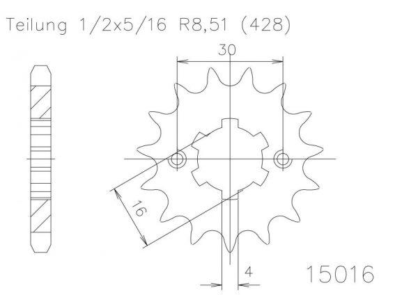 Передняя звезда Esjot 50-15016-16