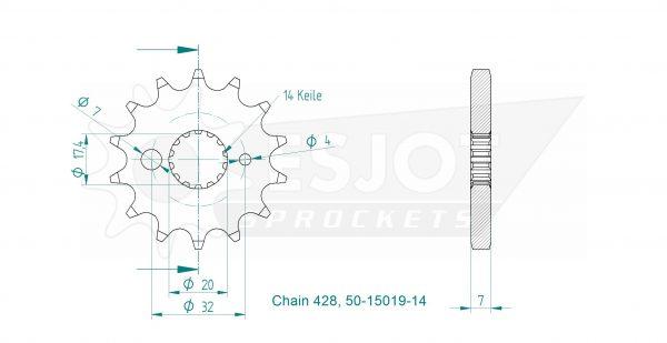 Передняя звезда Esjot 50-15019-14 (аналог JTF558.14)