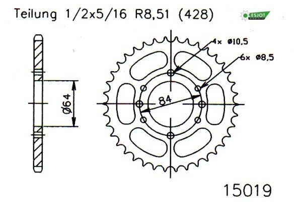 Задняя звезда Esjot 50-15019-47 (аналог JTR809.47)