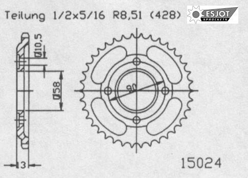 Задняя звезда Esjot 50-15024-50 (аналог JTR271.50)