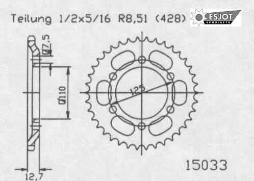 Задняя звезда Esjot 50-15033-38