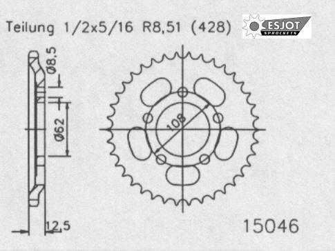 Задняя звезда Esjot 50-15046-49