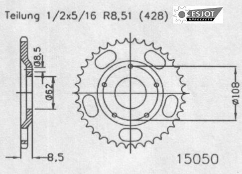 Задняя звезда Esjot 50-15050-55