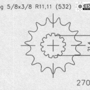 Передняя звезда Esjot 50-27001-16 (аналог JTF440.16)