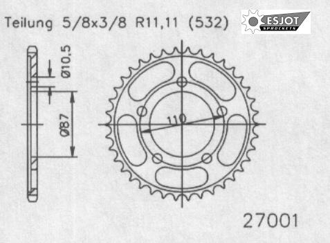 Задняя звезда Esjot 50-27001-45 (аналог JTR830.45)