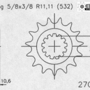 Передняя звезда Esjot 50-27002-15 (аналог JTF584.15)