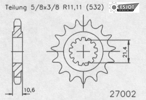 Передняя звезда Esjot 50-27002-17 (аналог JTF584.17)