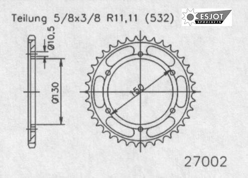 Задняя звезда Esjot 50-27002-52 (аналог JTR866.52)