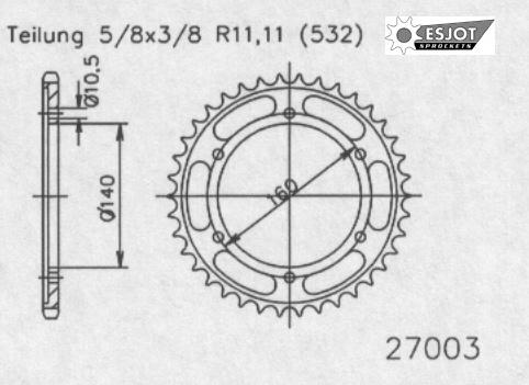 Задняя звезда Esjot 50-27003-45 (аналог JTR503.45)
