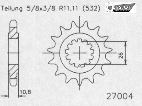 Передняя звезда Esjot 50-27004-17 (аналог JTF585.17)