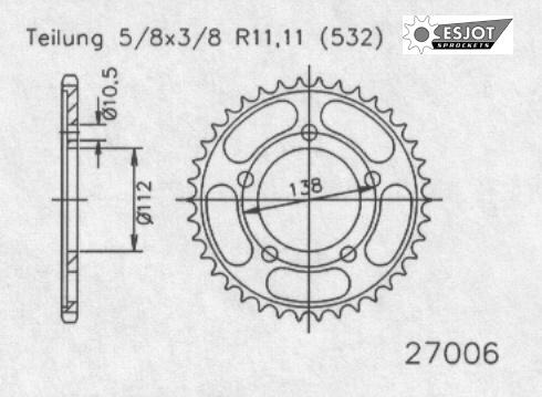 Задняя звезда Esjot 50-27006-48 (аналог JTR1873.48)