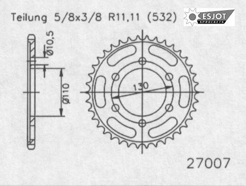 Задняя звезда Esjot 50-27007-48 (аналог JTR1875.48)