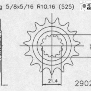 Передняя звезда Esjot 50-29029-16 (аналог JTF1537.16)