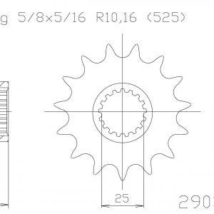 Передняя звезда Esjot 50-29033-20 (аналог JTF405.20)