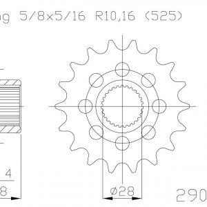 Передняя звезда Esjot 50-29034-18S