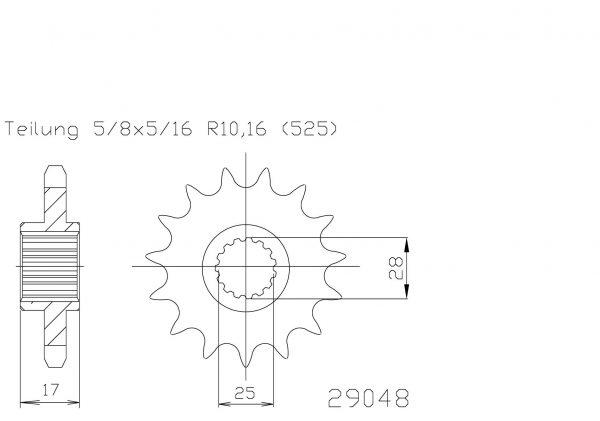 Передняя звезда Esjot 50-29048-15 (аналог JTF749.15)