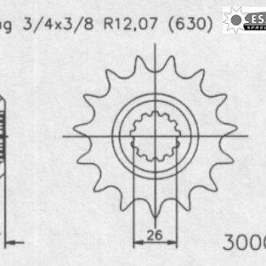 Передняя звезда Esjot 50-30001-15 (аналог JTF330.15)