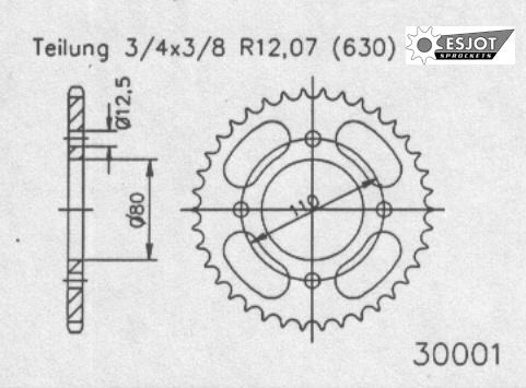 Задняя звезда Esjot 50-30001-38 (аналог JTR333.38)