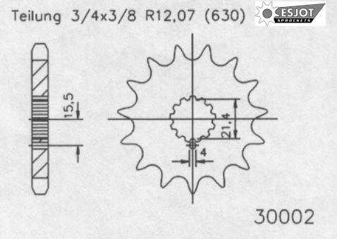 Передняя звезда Esjot 50-30002-14 (аналог JTF518.14)