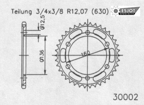 Задняя звезда Esjot 50-30002-41 (аналог JTR500.41)